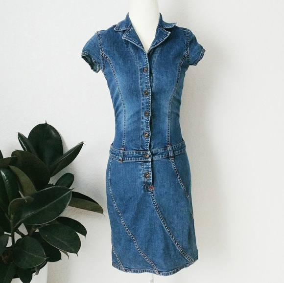 eab813e1551 90s Vintage Tommy Jeans Bodycon Denium Mini Dress.  M_5aa48dbfa825a6118c8c9993